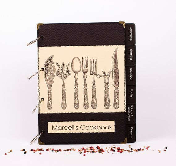 Personalized Recipes Book  Cook book Recipe by MyMemoriesMyWay