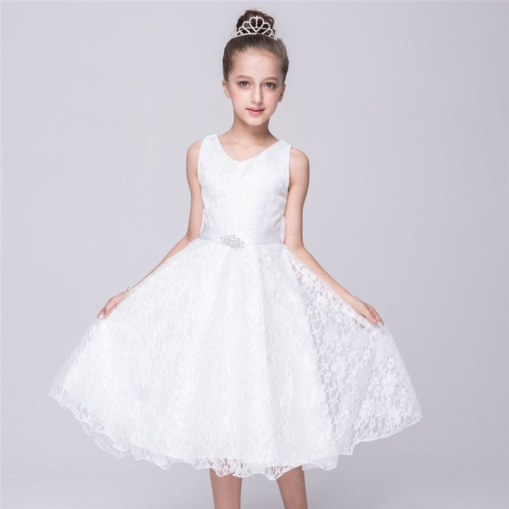 16.78$  Watch now - http://alizgd.shopchina.info/1/go.php?t=32809521474 - YWHUANSEN Lace Girls Party Dress For Girls Age 11 Dresses For Summer Night Dress Birthday Costumes Easter Party Communion Gown  #magazineonlinebeautiful
