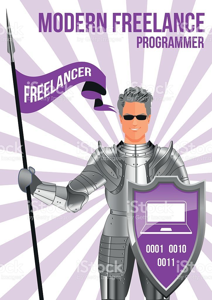 Programmer freelancer design concept royalty-free stock vector art