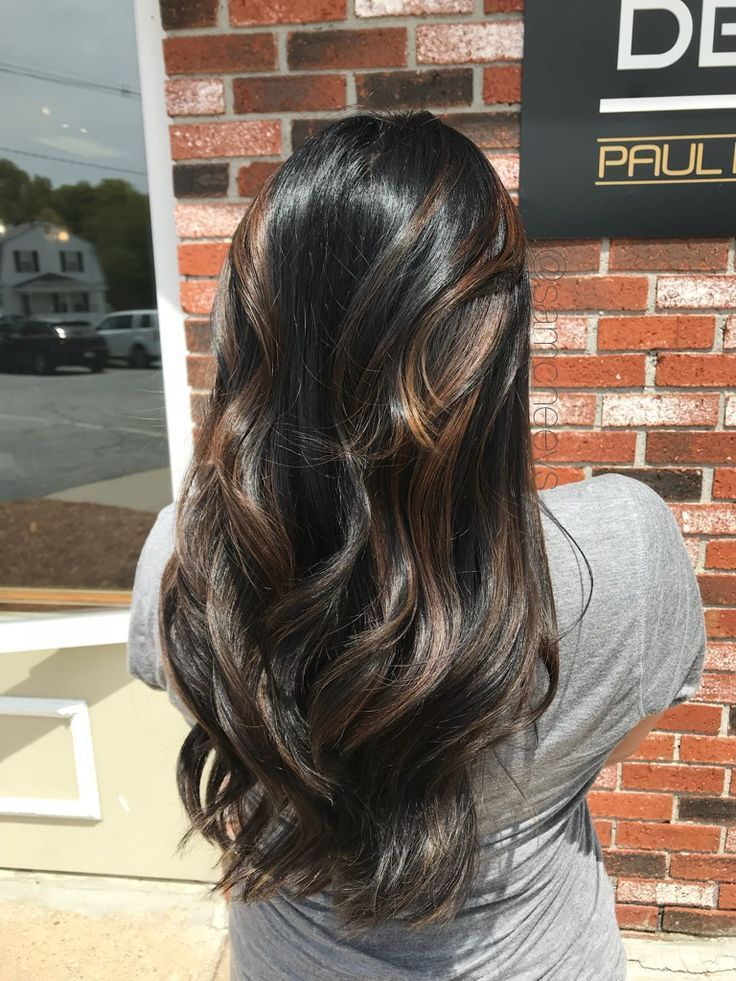 Black Hair Latina Brown Hair Brown Hair Light Brown Caramel Highlights Black Black B In 2020 Light Hair Black Hair With Highlights Hair Highlights