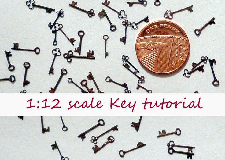 1:12 scale Key tutorial - Ambers House