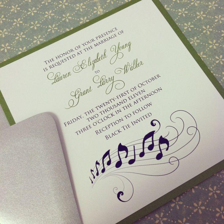 31 best Invitations images on Pinterest Music themed weddings