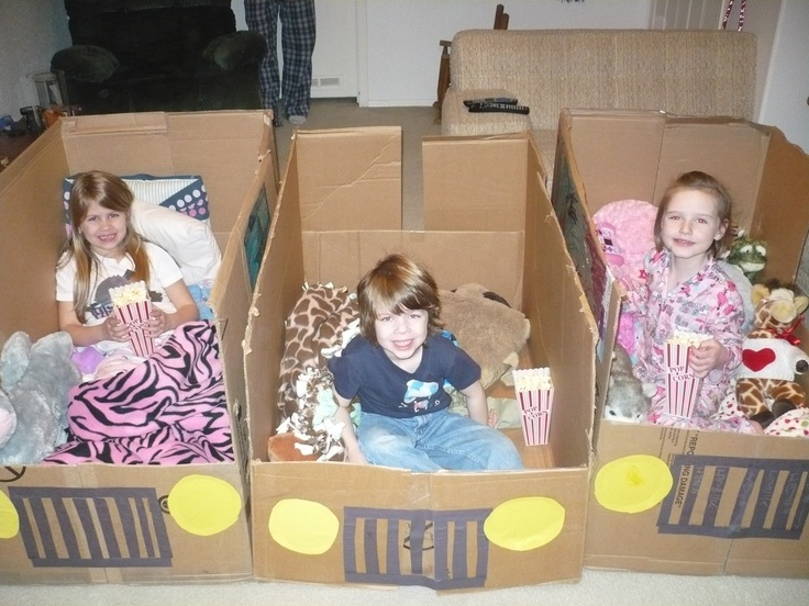 Make cars to have a drive in movie in your living room for How to make a cardboard box car that moves