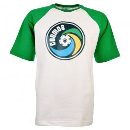 New York Cosmos - NASL Shirt (White with Green Sleeves)