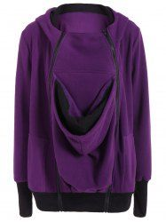 Baby Kangaroo Zip Up Hoodie in Purple | Sammydress.com Mobile