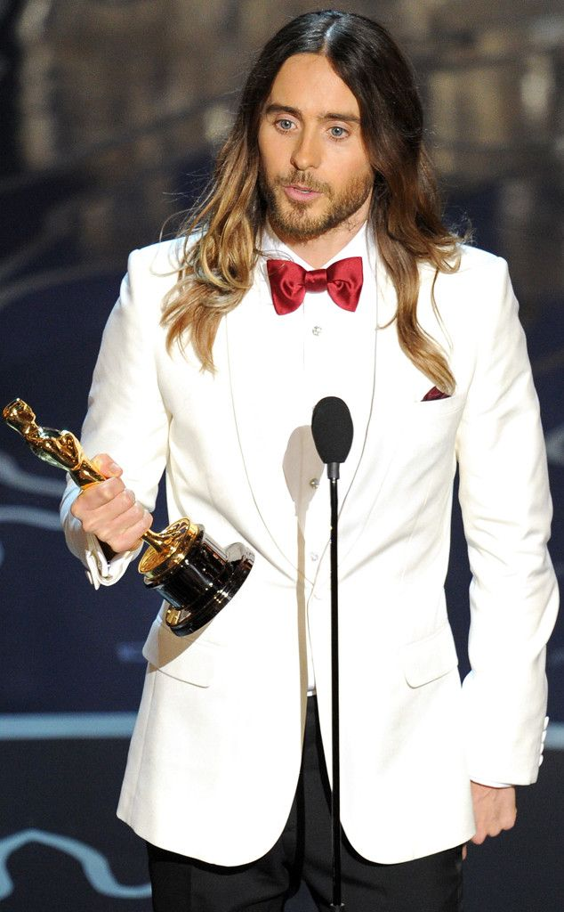 "3/4/14 3:21a  The Academy Awards Ceremony 2014:  Jared Leto  Best Supporting Actor Oscar for ""Dallas Buyers Club"" 2013."