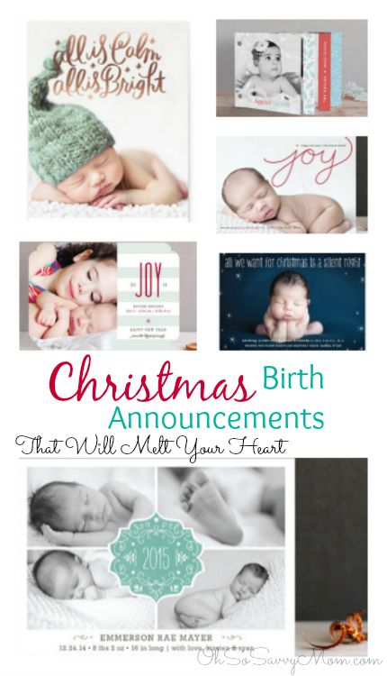 Precious Holiday Birth Announcements from @minted
