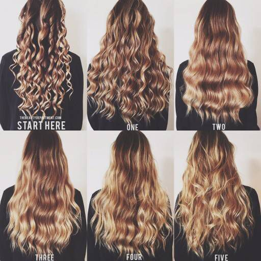 Different types of curls using a curling wand                                                                                                                                                      More