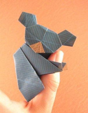 Origami Koala by Watanabe Dai folded by Gilad Aharoni