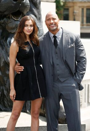 """Celebrity Photos: July 2014 Irina Shayk and Dwayne Johnson attend a photo call for """"Hercules"""" in London, England July 2."""
