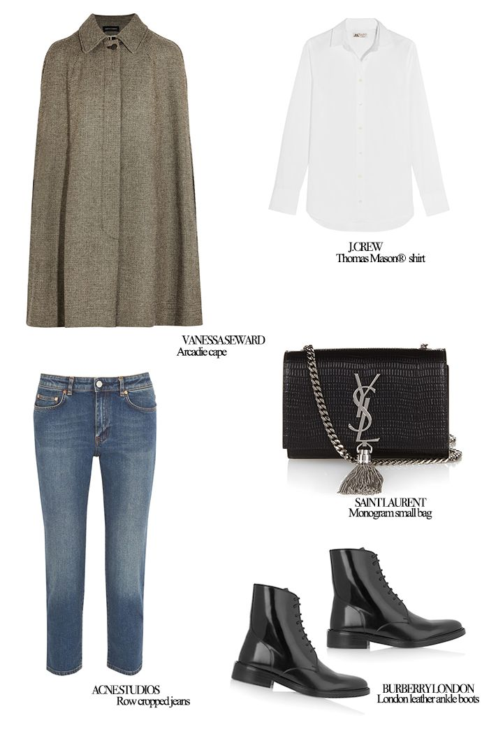 Mode d'amour; How to create the perfect casual look, wearing a cape.