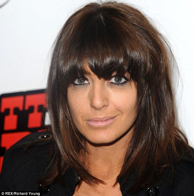 Claudia Winkleman has a distinctive look that includes a heavy fringe, pale lips and dark eyes