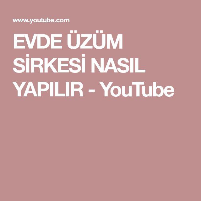 EVDE ÜZÜM SİRKESİ NASIL YAPILIR - YouTube