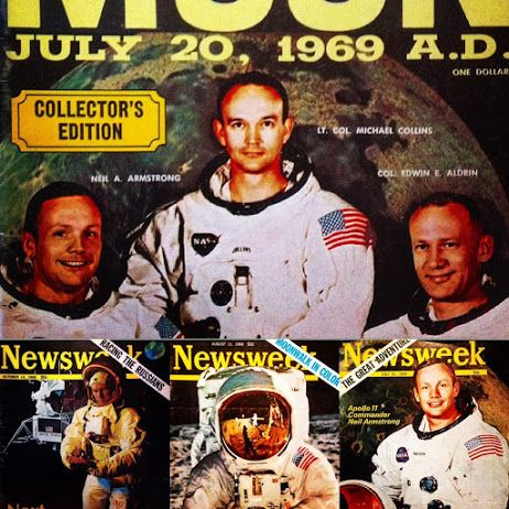Newsweek Apollo 11 edition in July 1969 for the moon landing. #moonlanding #newsweek #astronauts #astronaut #nasa
