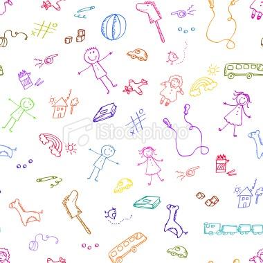 toys pattern Royalty Free Stock Vector Art Illustration