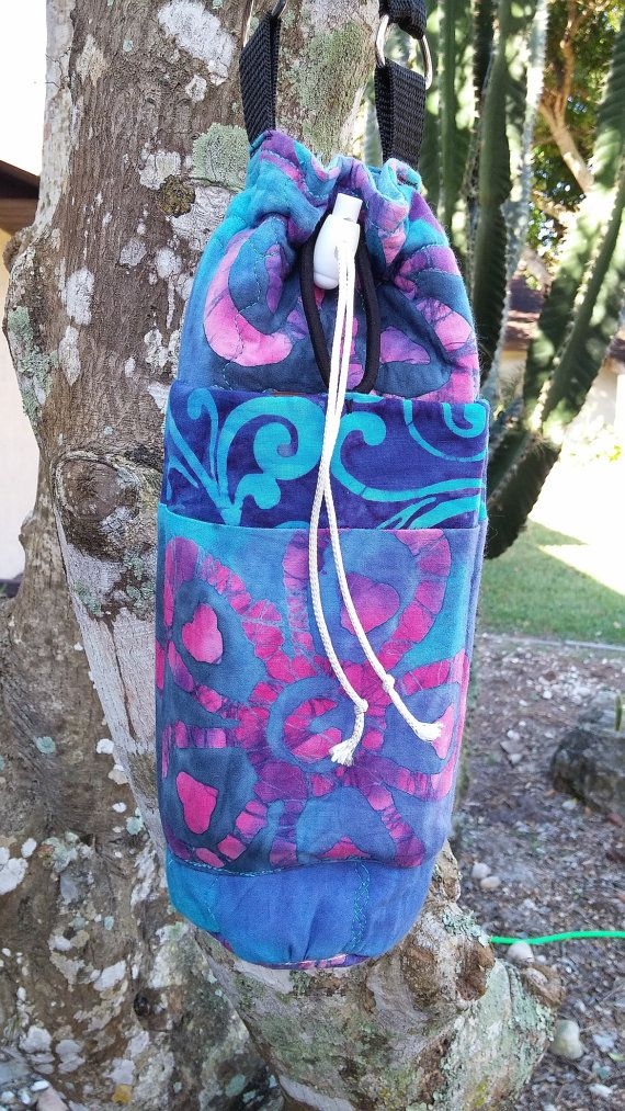 Large Water Bottle Carrier For Glass Bottle Extra by stitchcottage