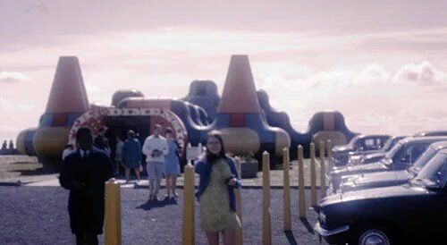 'The Fifth Dimension', a fun palace built on the edge of the beach at Girvan in 1969.