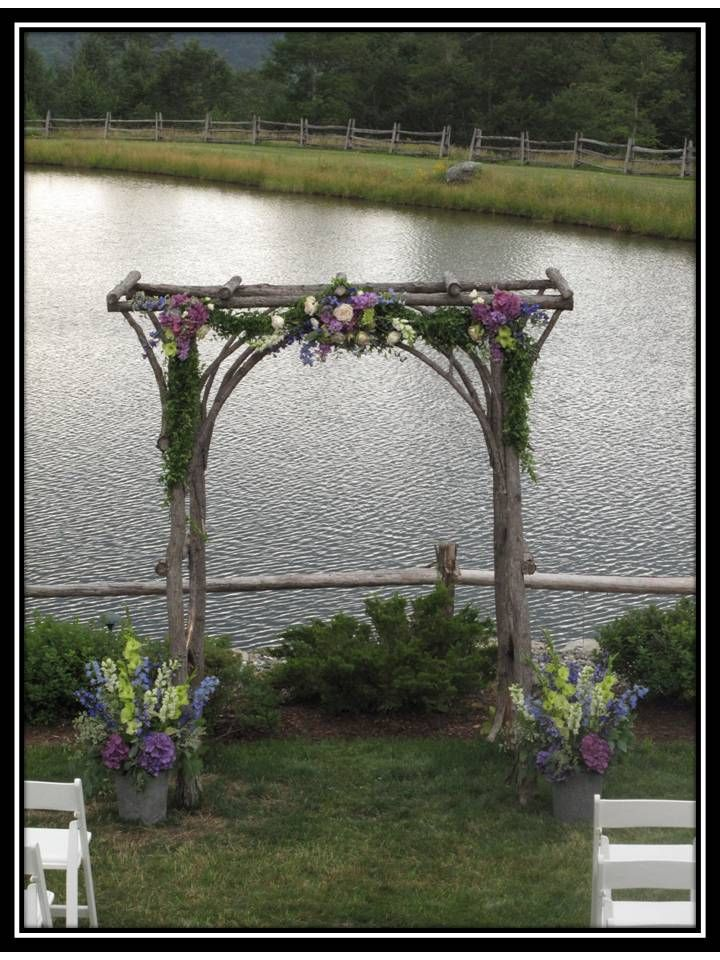 Arbor for wedding at The Ponds