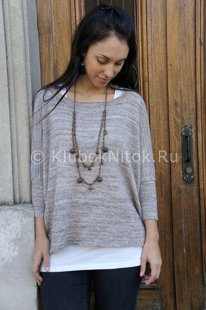 Модный пуловер | Вязание для женщин | Вязание спицами и крючком. Схемы вязания.