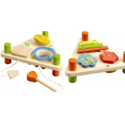 EverEarth Double Sided Musical Set. This lovely little set includes xylophone, spinners, drum, glockenspiel and mallets. A very cute little set. An ideal present.