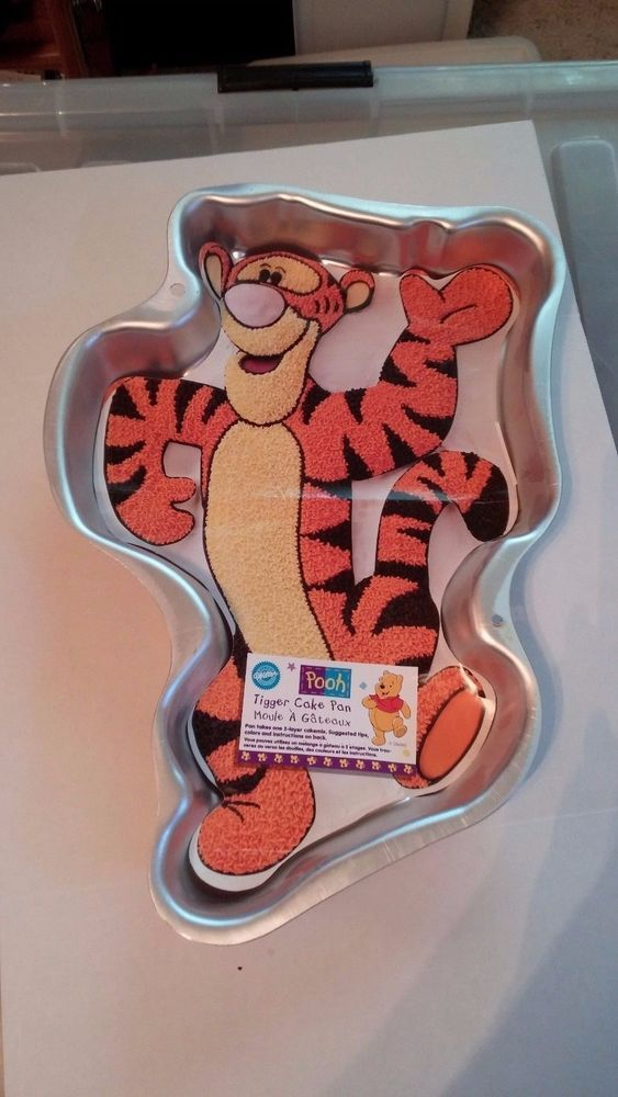 Tigger Full Body Wilton Cake Pan Disney Aluminum Bakeware Molded Shaped Layer #Wilton