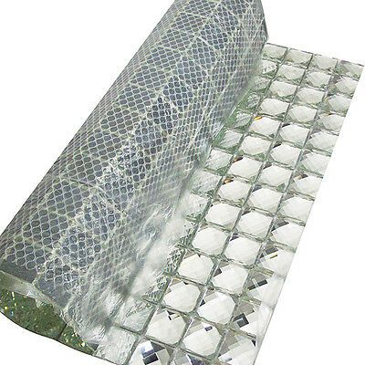 mirror tiles sliver crystal diamond mosaic tile backsplash