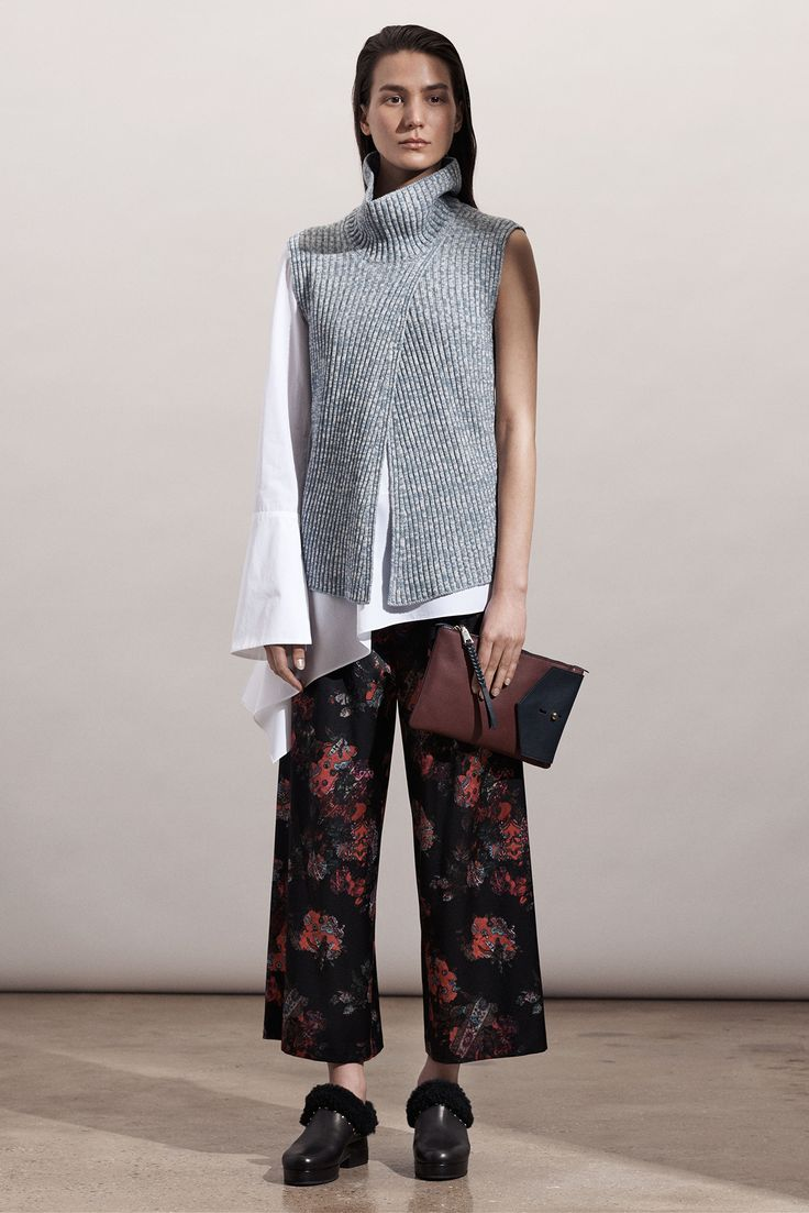 Out Of All The Pre-Fall Collections, These Are The 20 You Need To Know #refinery29  http://www.refinery29.com/pre-fall-trends-2015#slide-18  Thakoon Before the mass popularity of deconstructed poplins and vintage-look florals, Thakoon was there doing both. In his pre-fall collection, there's a healthy representation of his bread and butter, but we're most enamored by those knit layering pieces. So comfy. So cool.