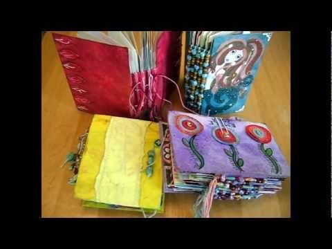 ▶ Make an Art Journal By Recycling Greetings Cards: Tutorial Part I - YouTube