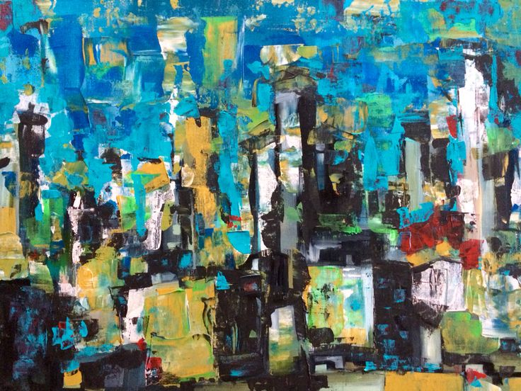 Downtown LA - acrylics - cm. 70 x 60 Paintings by Gianluca Dal Bianco