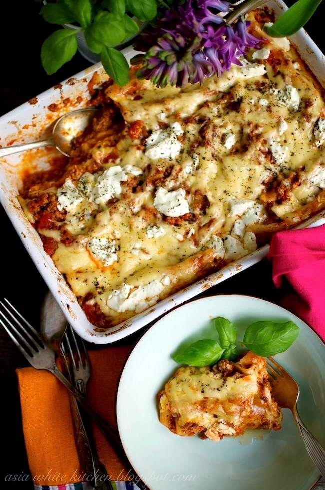 Asia's White Kitchen: Cannelloni z sosem mięsno pieczarkowym