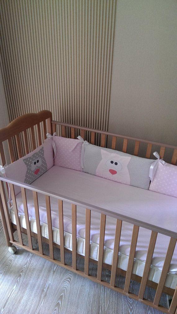 Baby crib bumper Cats