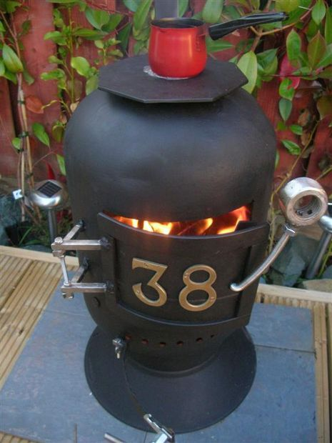 Wood stove made from scrap