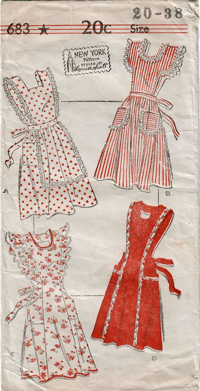 Inspired apron fashion in my #etsy shop: 1940s New York 683 Vintage Sewing Pattern Misses Full Apron, Bib Apron, Pinafore, Princess Apron Size 20 Bust 38 http://etsy.me/2tsbmER #supplies #sewing #missesapronpattern #apronsewingpattern #missesfullapron #missesbibapron