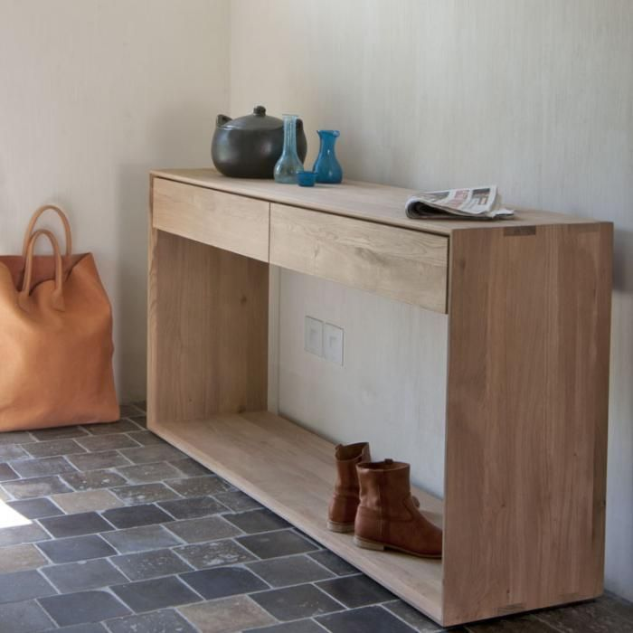 Oak Nordic Console 2 Drawers: Remodelista