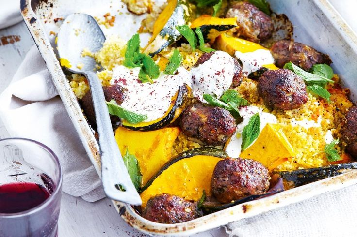 Keep things simple with these Middle Eastern roast lamb koftas served with pumpkin and crisp couscous.