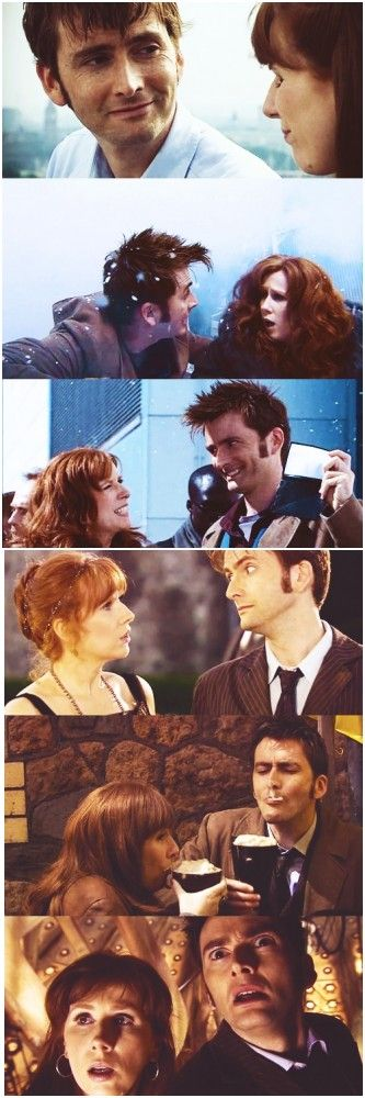 The Doctor and Donna Noble. I completely just fangirled over this, because they are beautiful and wonderful and amazing and I miss them both so much.
