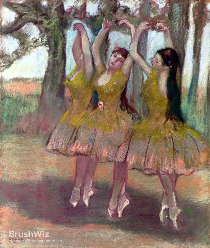 A Grecian Dance by Edgar Degas - Oil Painting Reproduction - BrushWiz.com