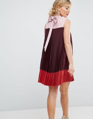 79624f4f157ed Ted Baker Color Block Pleated Swing Dress with Bow Back | My Style ...