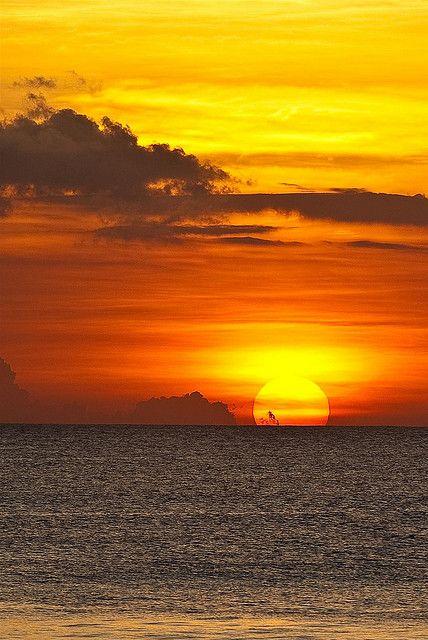 Sunset at Kuta Beach, Bali, Indonesia