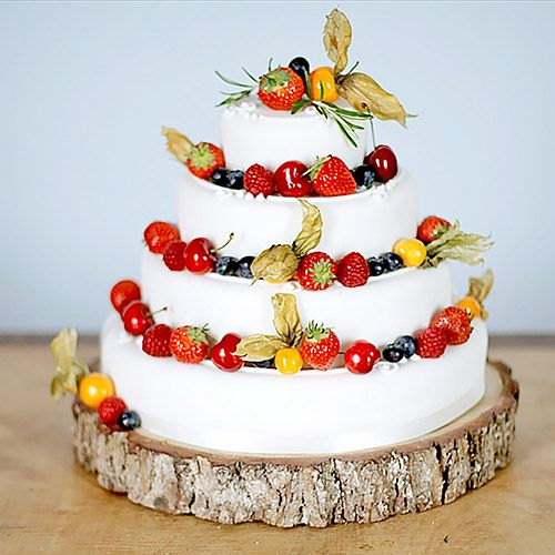 #rockmycake with Marks & Spencer | Traditional Four Tier Wedding Cake | Rustic | Wooden Slab Cake Stand | Fruity Berry Decor | DIY | Budget Friendly Wedding Cake Ideas |