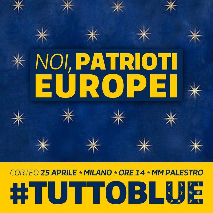 #TUTTOBLU, campagna 25 aprile PD Milano Metropolitana // art direction