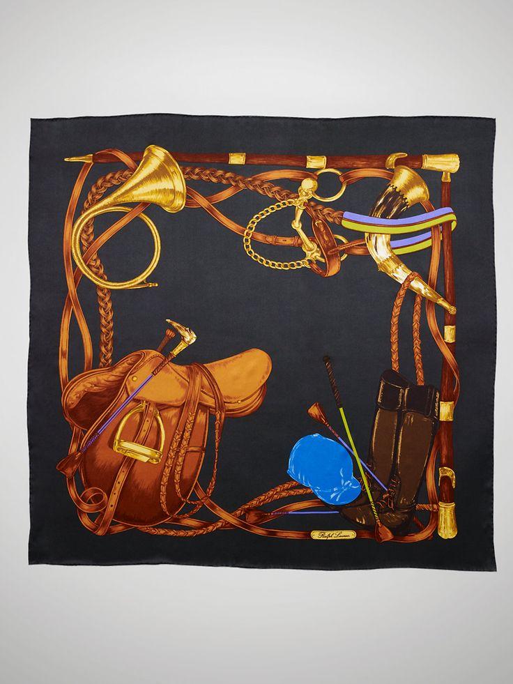 Ralph Lauren Equestrian-Print Silk Scarf | Equestrian chic ...