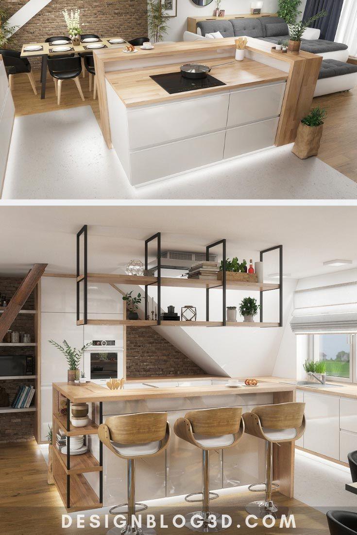 Natural Kitchen With A Modern Kitchen Island Like This Kitchen