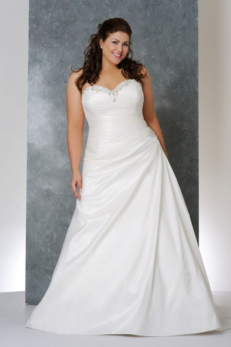 2013 Wedding Dresses Plus Size Wedding Dresses A Line Sweetheart Chapel Train