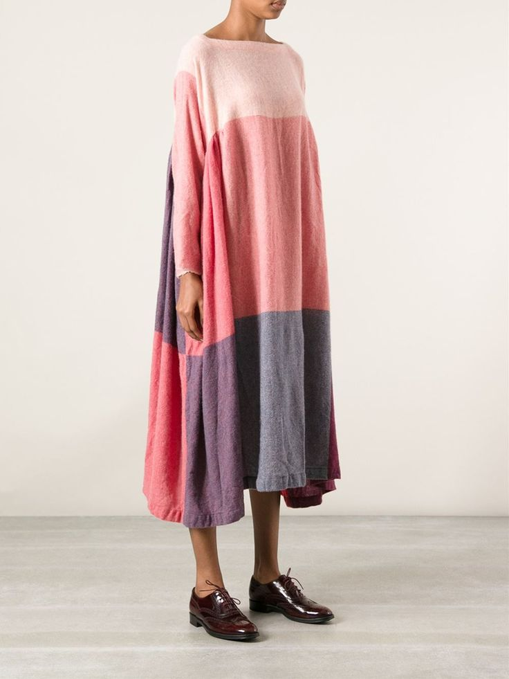 Daniela Gregis Block Stripe Voluminous Dress - - Farfetch.com