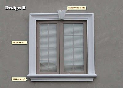 exterior window moulding lay out design - Windows Designs For Home