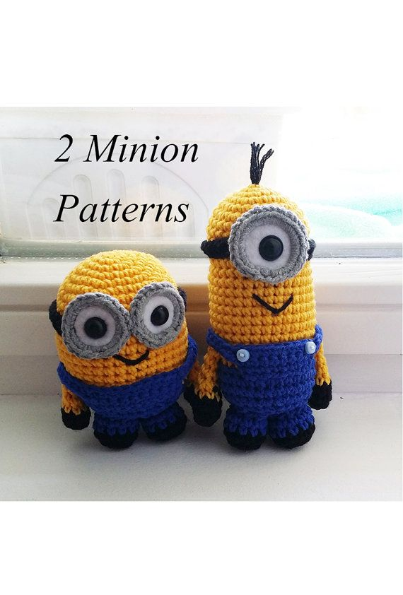 Minion Amigurumi Pattern PDF 2 patterns by LittleMaggieShop
