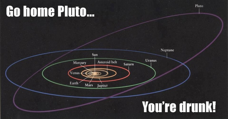 go home pluto... you're drunk!