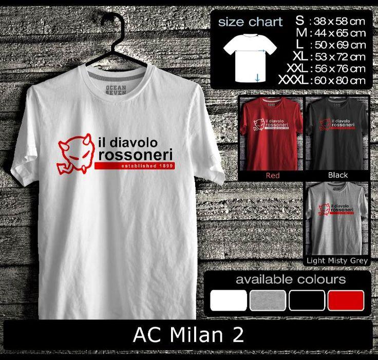 Kaos AC Milan FootBall Club | Kaos Milanisti 2