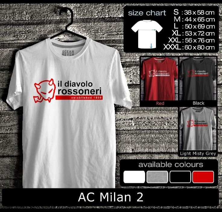 Kaos AC Milan FootBall Club | Kaos Milanisti 2